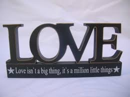 Love is a million little things